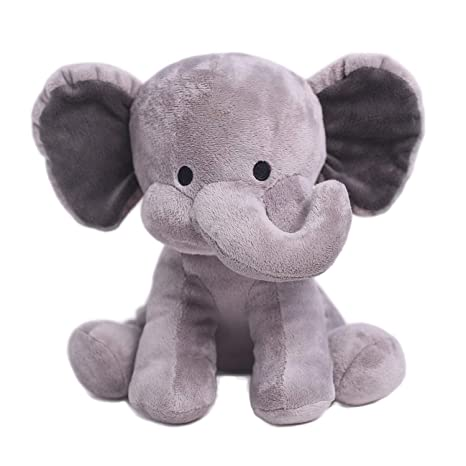 iBonny - Peluche de Elefante de Peluche DE 25,4 cm con Relleno de Animal