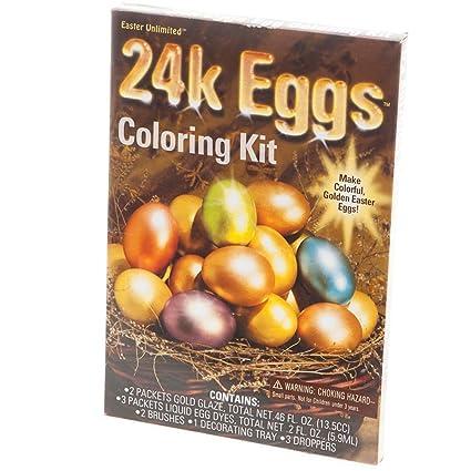 Amazon.com: 24 Karat Easter Egg Coloring Kit