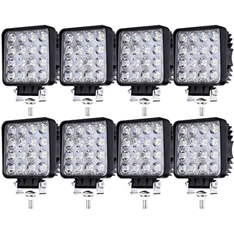8 X 48 W Led Off Road Work Light 12 V 24 V Headlight 6500 K