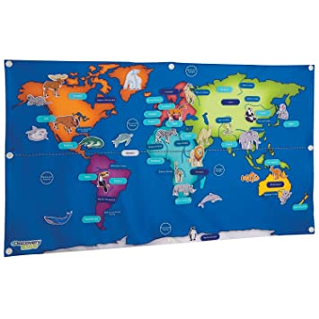 Discovery kids fabric activity world map by discovery amazon discovery kids fabric activity world map by discovery gumiabroncs Images