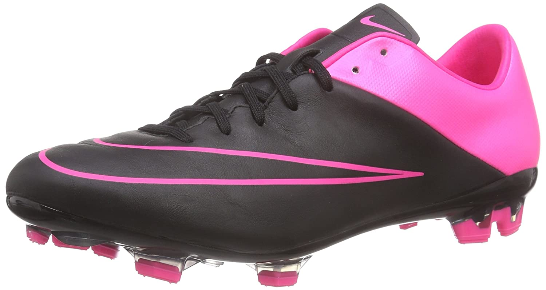 NIKE Mercurial Veloce Ii Lthr Fg, Herren Fußballschuhe, Schwarz (schwarz schwarz-Hyper Pink-Hyper Pink 006), 45.5 EU