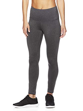 ab95cb796265b Amazon.com: Reebok Women's High Rise Leggings Performance Compression Pants:  Clothing