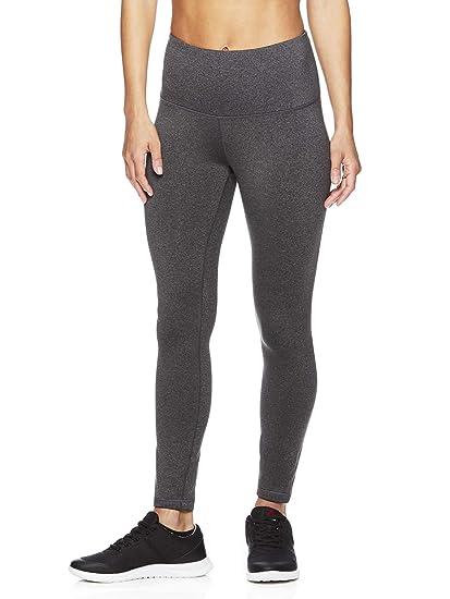 78ac4caa26 Reebok Women's High Rise Leggings Performance Compression Pants