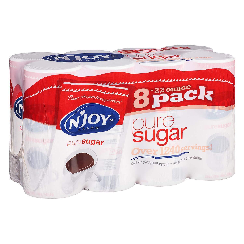 N'Joy Pure Cane Sugar - 8 / 22 oz. canisters (4 Pack)