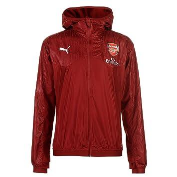 Puma Arsenal Aérée Veste Capuche Hommes Rouge Football Ballon Haut Vêtements  de Plein Air Artilleurs - c8a1561be3c