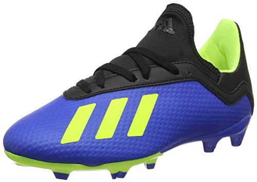 adidas Kids Shoes Boys Soccer Cleats X 18.3 Firm FG Boots DB2416 (US 4.5)