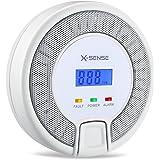 X-Sense CO03D Détecteur de Monoxyde de Carbone CO Alarme Tester Haute Sensitive Avertisseur de Gaz avec Pile Capteur Electrochemical Gas