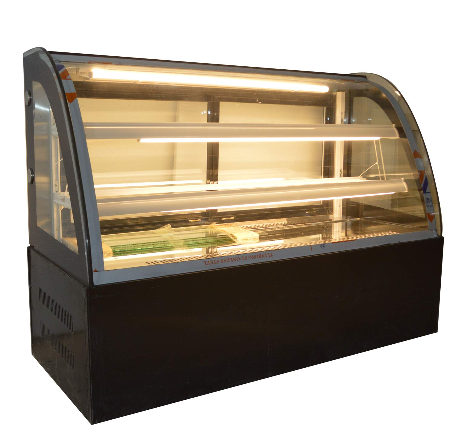 INTBUYING 47'' Countertop Bekery Cabinet Display Case Glass Refrigerated Cake Showcase 220V 315W 36-46F by INTBUYING (Image #1)