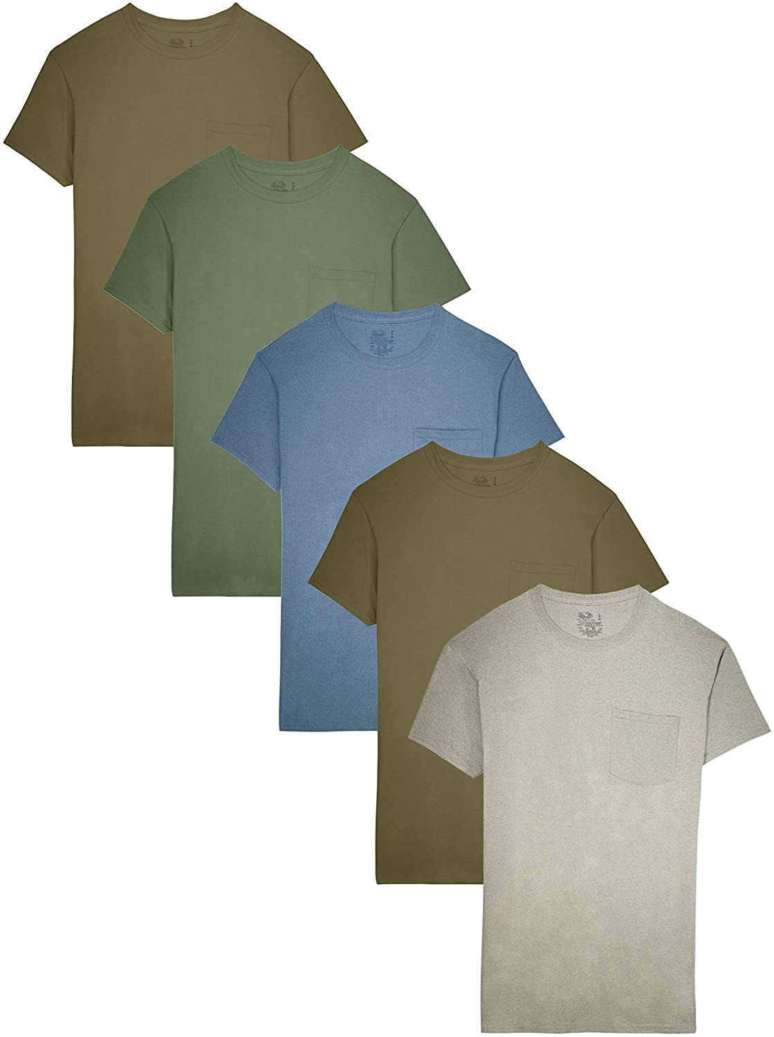 12 FRUIT OF THE LOOM SHORT SLEEVE POCKET T-SHIRTS 2X