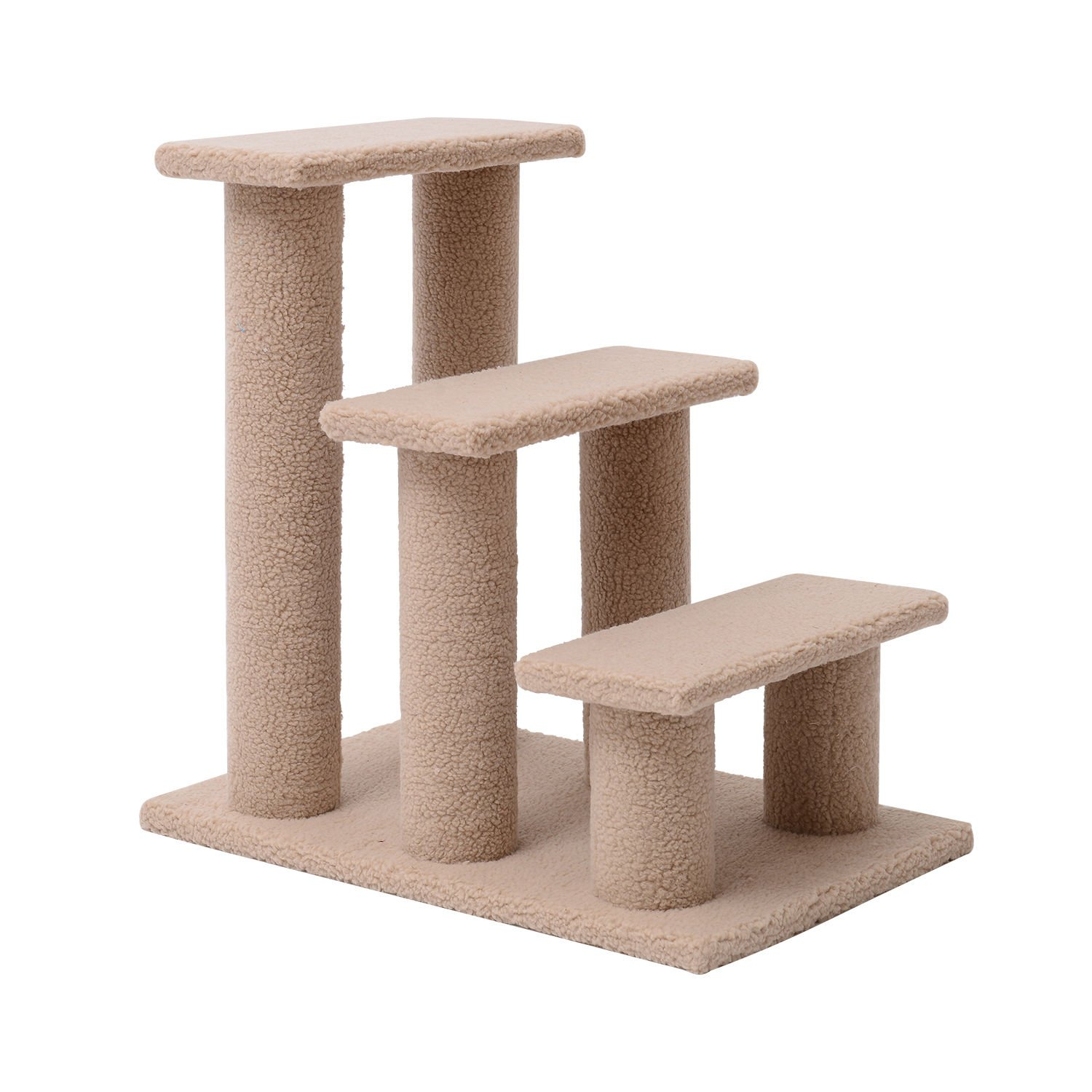 PawHut 24'' 3 Step Scratching Post Cat Steps by PawHut