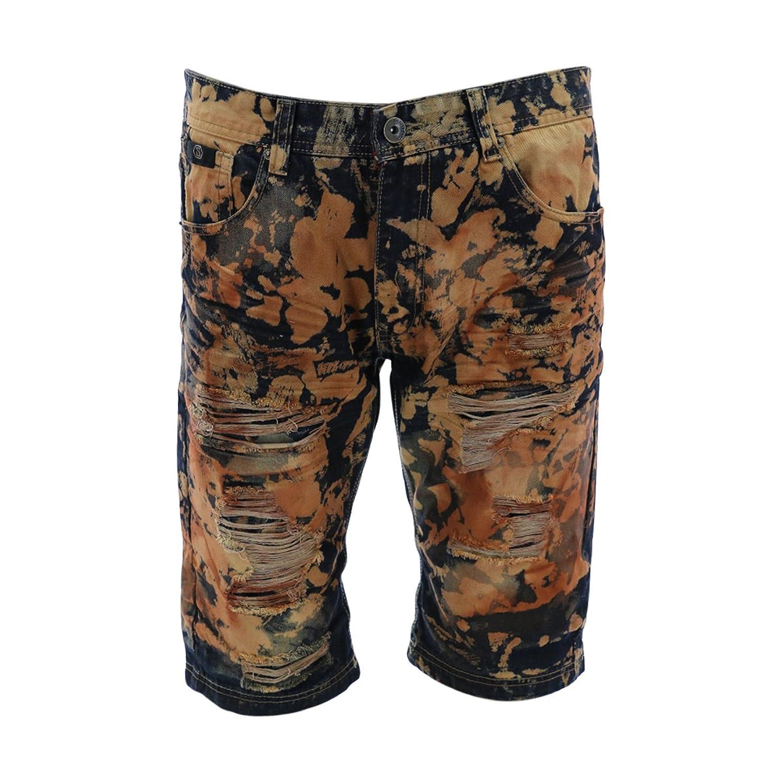New Mens Izod Luxury Sport Vela Blue Gray Flat Front Madras Shorts