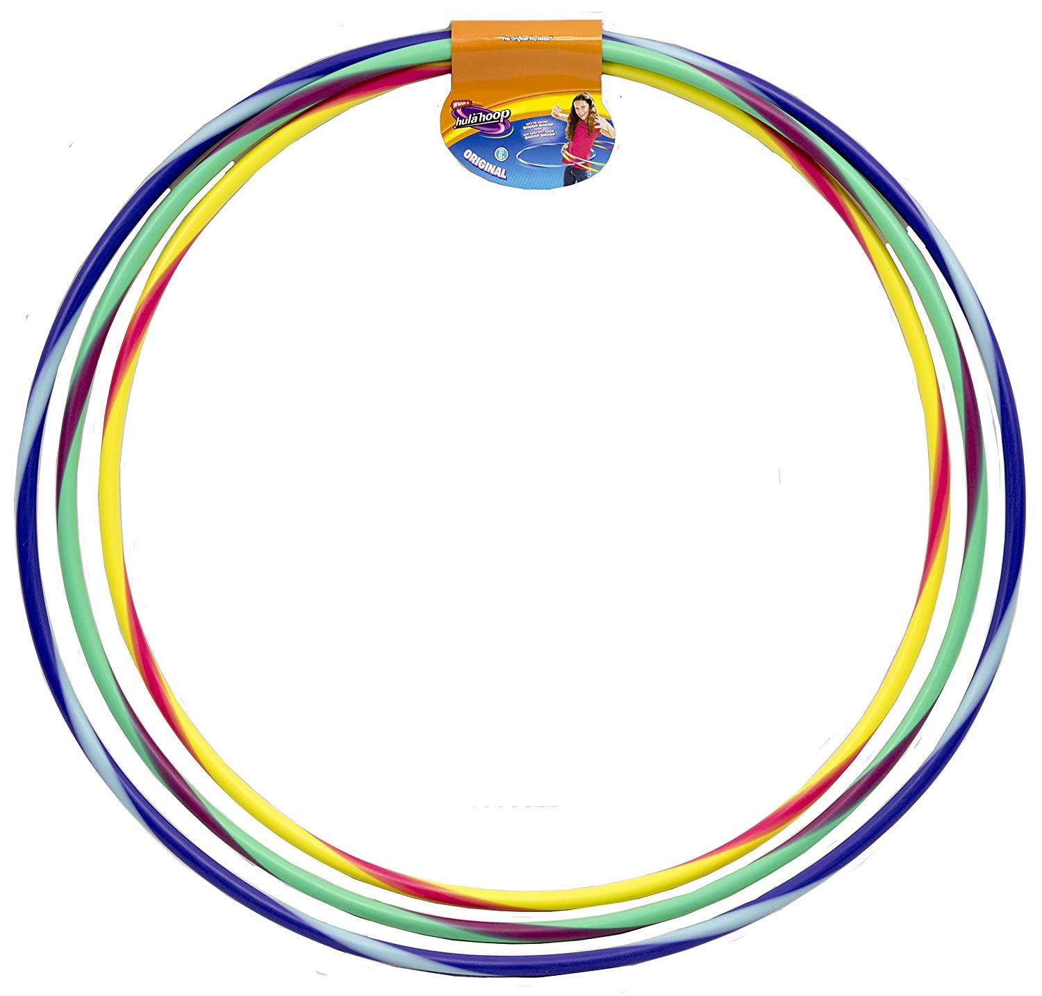 Wham-O Original Assorted Colors and Sizes Hula Hoop Set with plastic bearings by Wham-O