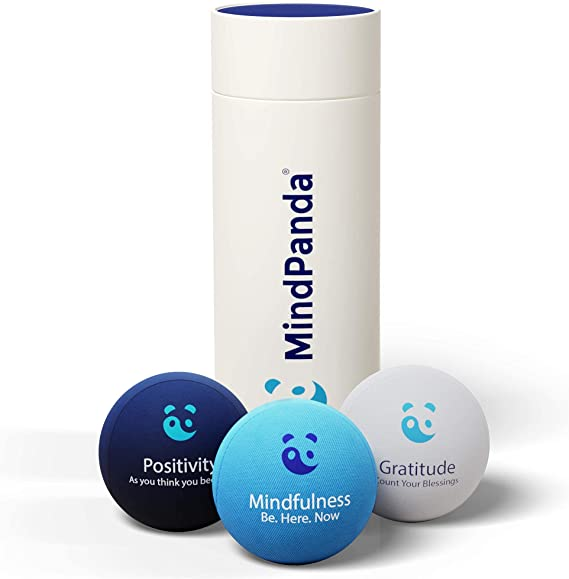 MindPanda 3X Empowering Gel Stress Ball Bundle | Different Strengths and Sizes For Squeeze Hand Therapy