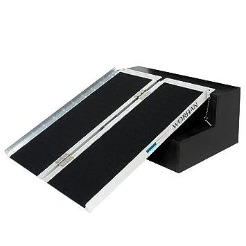 WORHAN® 91cm Rampa Plegable Carga Silla de Ruedas Discapacitado Movilidad Aluminio Anodizado Modelo de Alta Adherencia 91cm R3J: Amazon.es: Bricolaje y ...