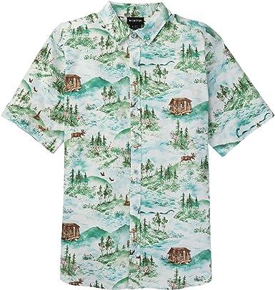 Burton Shabooya Camp Camisa de Manga Corta, Hombre: Amazon.es: Deportes y aire libre