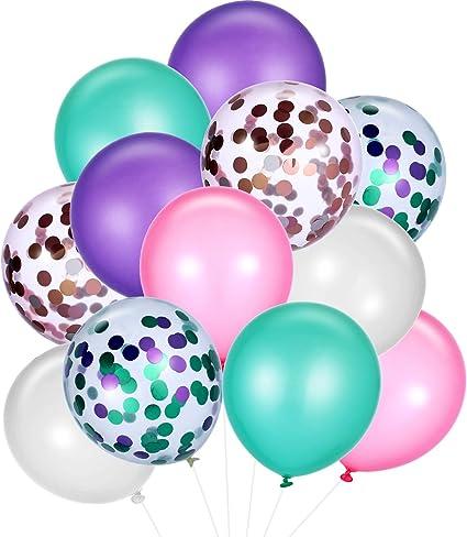Party  Event Decor Kids Mermaid Balloons Glitter Confetti Wedding  Birthday