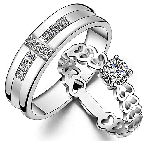 Dcjewels Mr Mrs Love Forever Designer Edition Adjustable Engagement