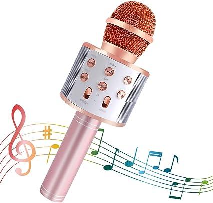 Nessere Wireless Bluetooth Microphone Audio Mobile Phone Karaoke Microphone