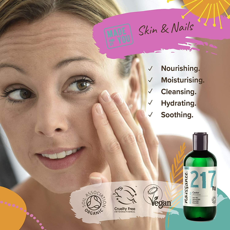 Naissance Aceite de Ricino BIO 250ml - Puro, natural, certificado ecológico, prensado en frío, vegano, sin hexano, no OGM - Hidrata y nutre el ...