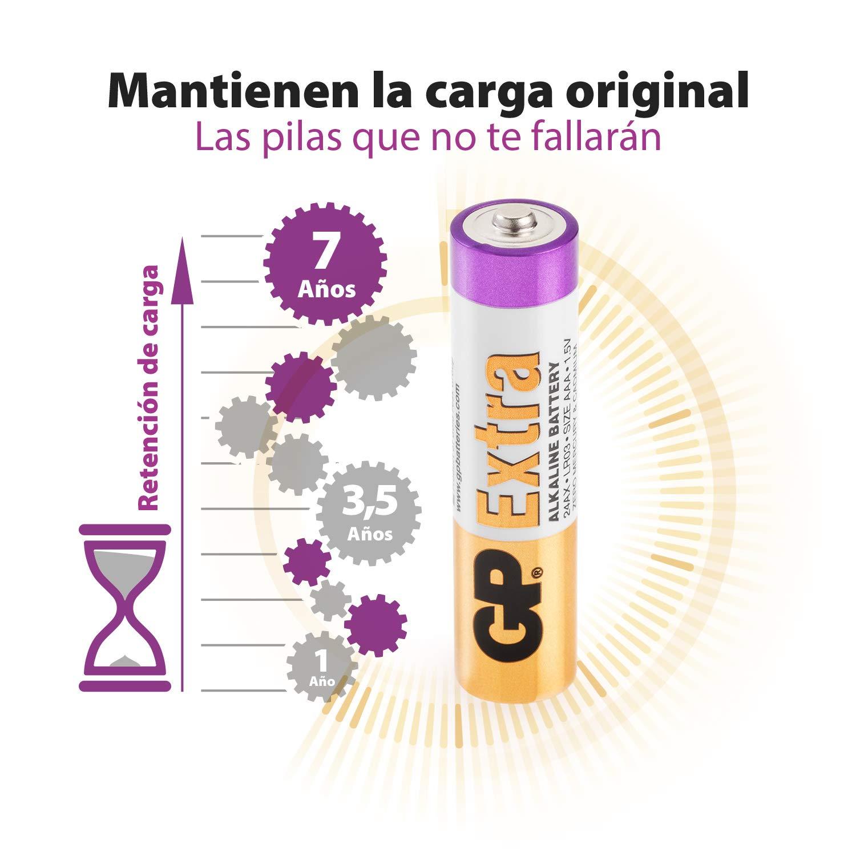 MN1500-15A Pack de 20 Pilas AA Alcalinas GP Mignon AM3 Capacidad y duraci/ón excepcional 1,5V LR06