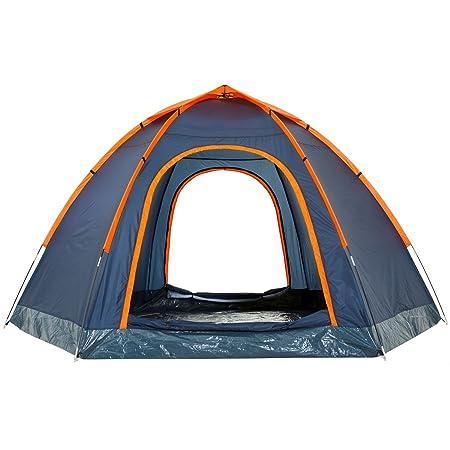 CampFeuer - Hexagon - Tienda de campaña iglú Color Azul: Amazon.es ...
