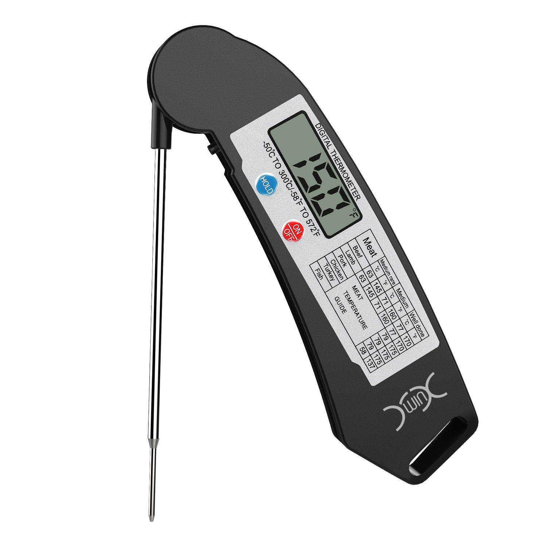 Thermomètre Cuisine, Yxwin Thermometre Digital Thermometre Cuisson Pliant Sonde Lecture Instantanée pour la Viande Barbecue Chocolat