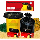 Shalimar Premium Garbage Bags (Medium) Size 48 cm x 56 cm 6 Rolls (180 Bags) (Trash Bag/ Dustbin Bag)
