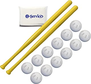 """product image for WIFFLE 32"""" Plastic Bats 2 Pack, Ball Baseballs Official Size 12 Pack and NOIS Tissue Pack"""