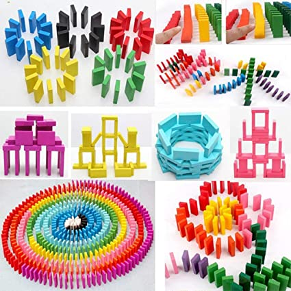 Magicwand 240 Pcs of Colorful Wooden Stacking Blocks Game for Kids