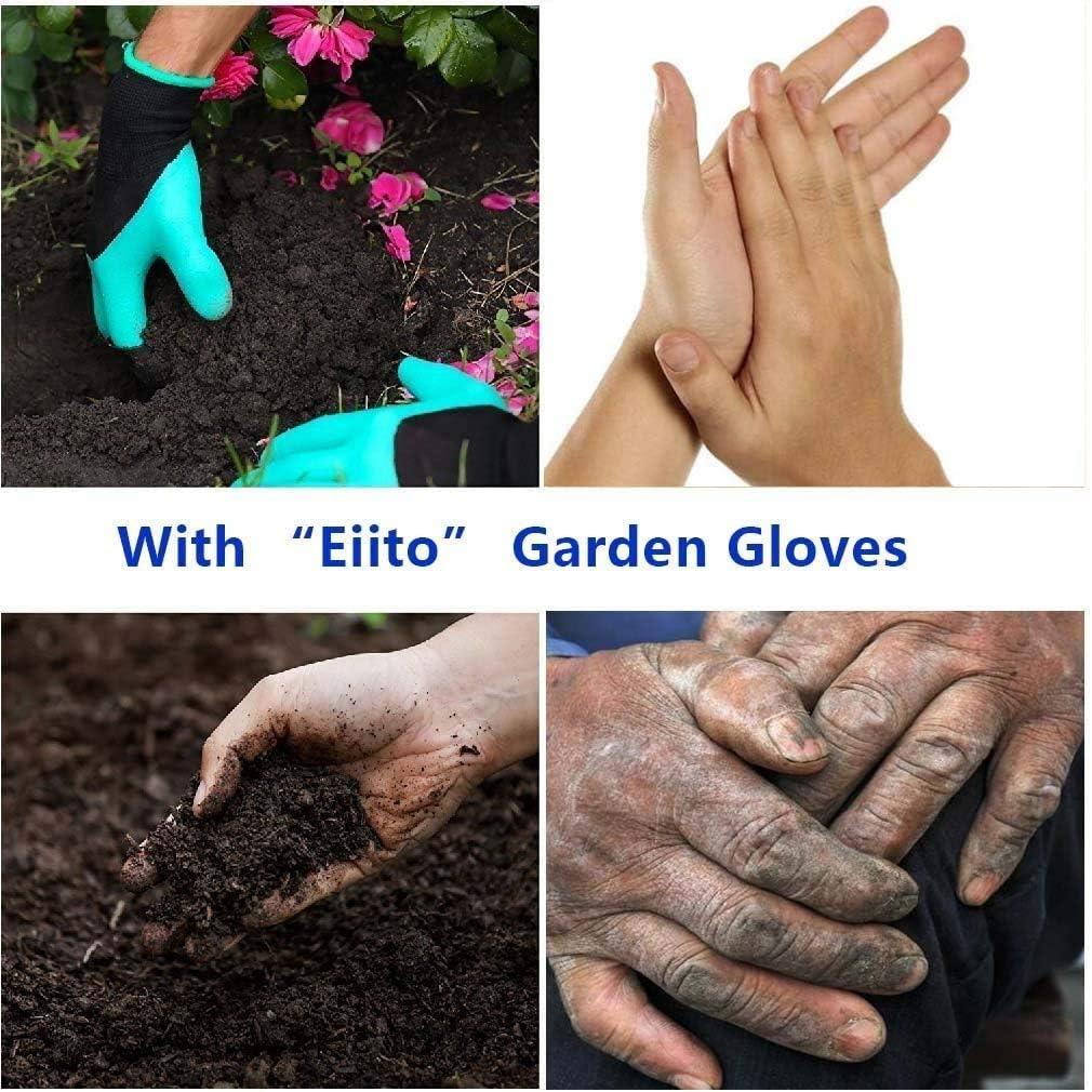 Outils de Jardinage pour la Maison Gants de Jardinage et Plantes de p/épini/ère /à Creuser Rapidement et Facilement pour Le Jardinier 2 Paires de Gants de Jardin avec Griffes