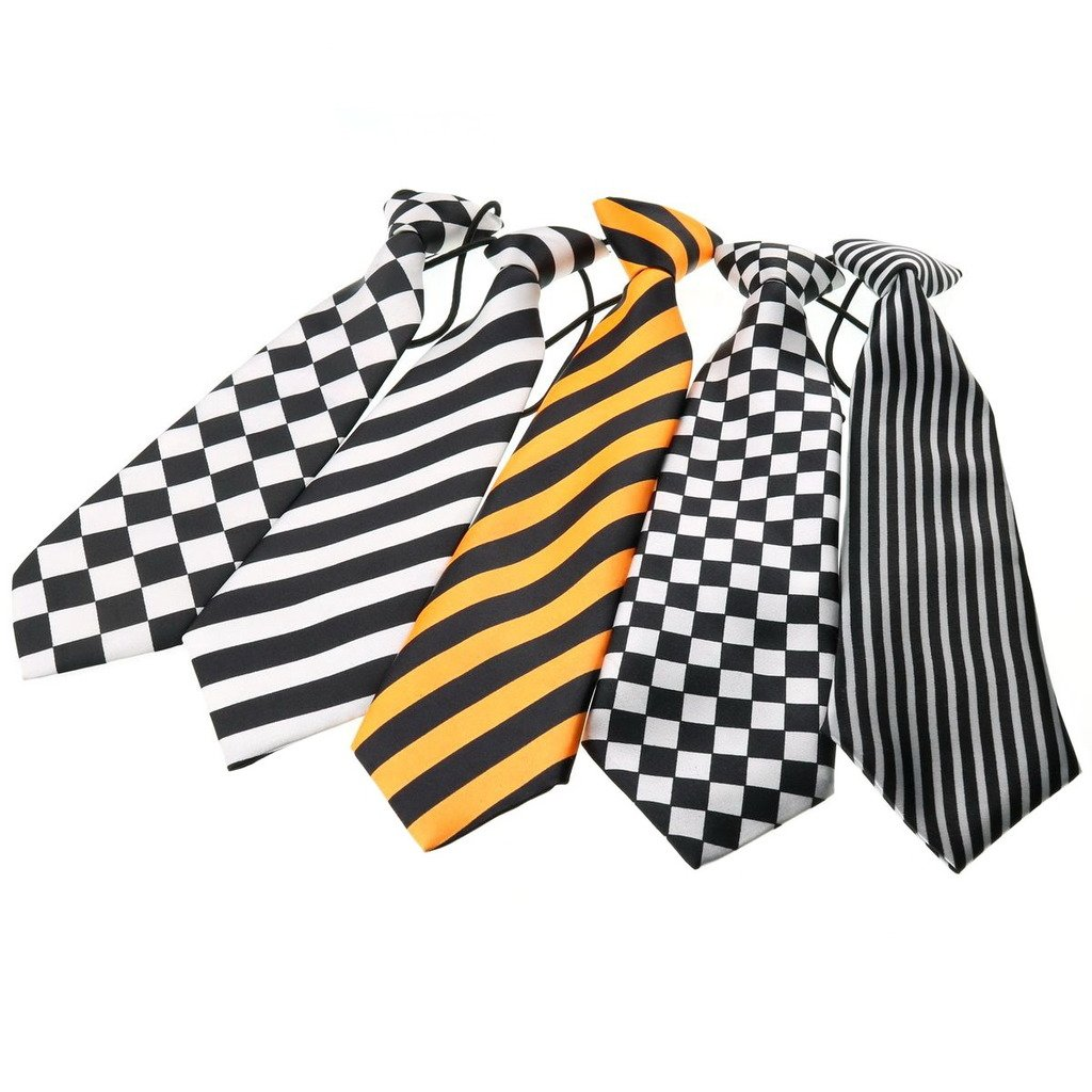 Ukerdo 5 pc Brand Boys Tie Kids Mixed Necktie Set School Wedding Party Pre-Tied