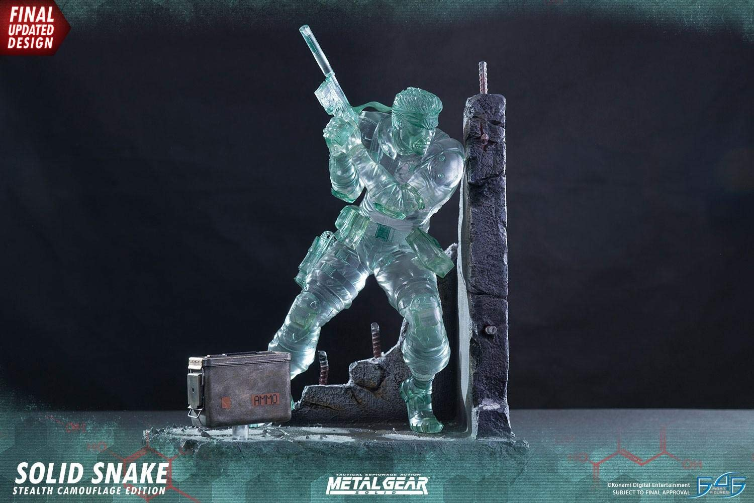 First 4 Figure Metal Gear Solid Snake 44 cm Stealth Camouflage Signature Edition  1
