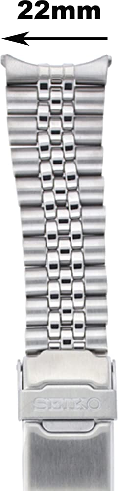 Seiko Original Stainless Steel Jubilee Watch Band 22mm and Genuine Seiko Spring Bars