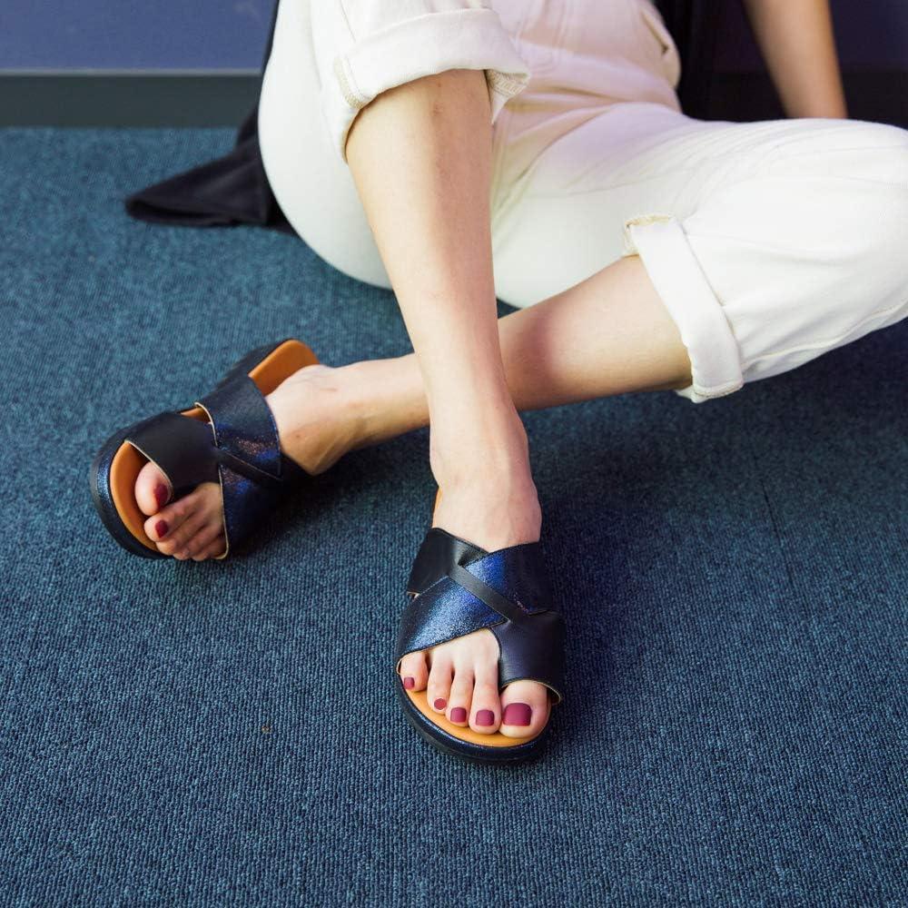 Sandale Femme Chaussons Compensees de /Ét/é Plage Vacances D/écontract/ée Mules de Bande Crois/ée Bout Ouvert Plateforme Talon 3.9cm Noir Bleu Marron Or Gris L/éopard Argent EU35-EU43