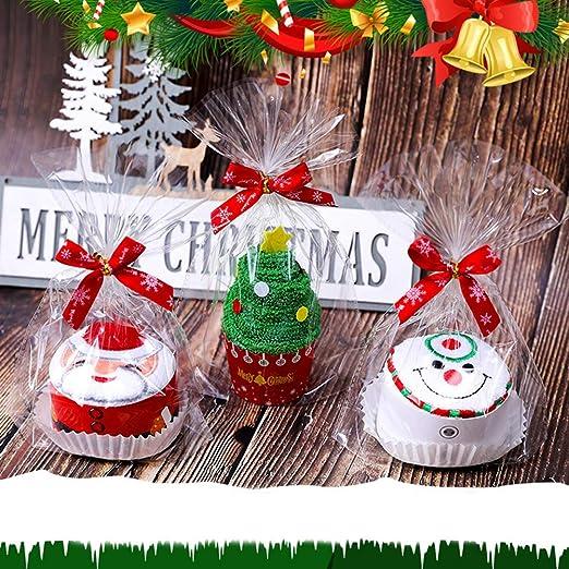 BESTOMZ 2 Piezas de Navidad Toallas de Mano Pastel de Modelado de Toallas Establece (Santa Claus): Amazon.es: Hogar