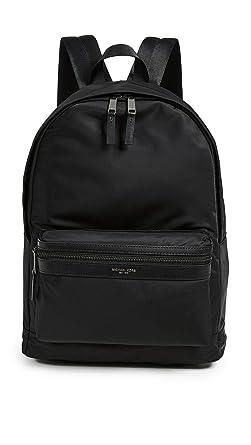 563dc0cc2992 Amazon.com: Michael Kors Men's Kent Nylon Backpack, Black, One Size ...