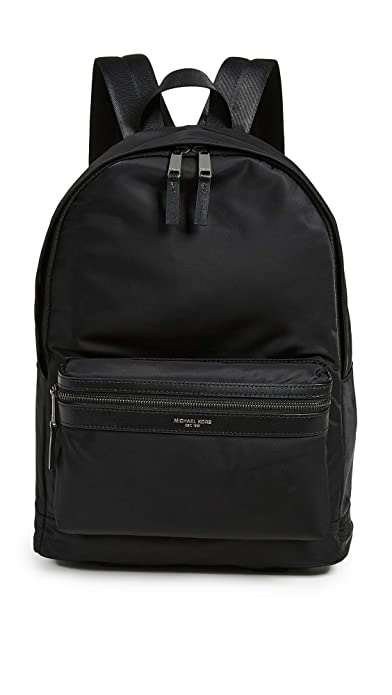 c5abeb601007 Michael Kors men's Nylon rucksack backpack travel kent black: Amazon ...