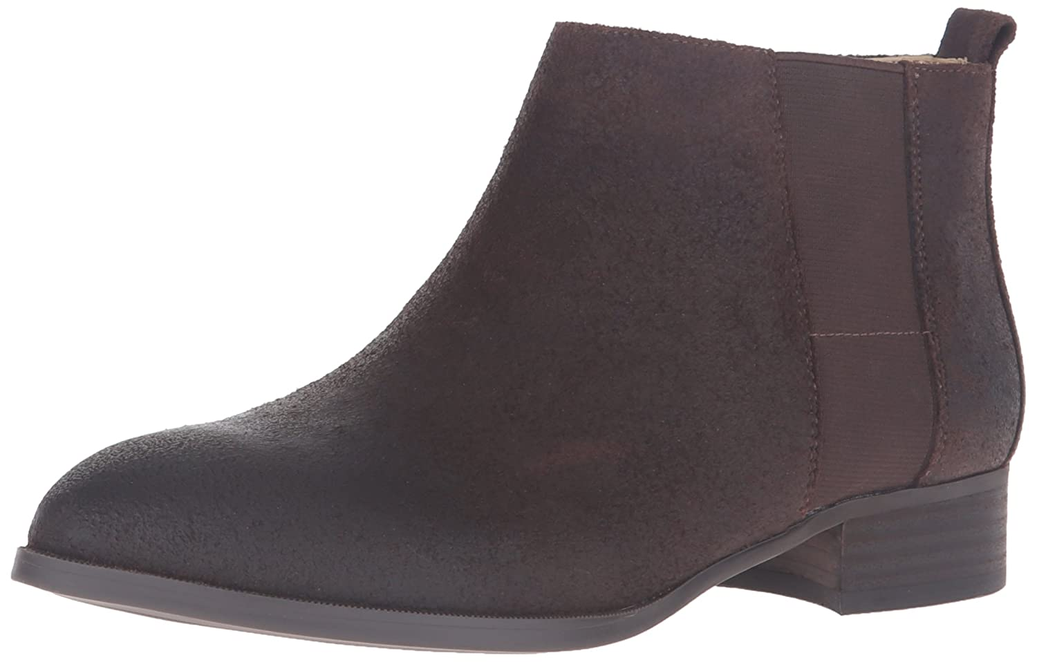 Nine West Women's Nolynn Leather Ankle Bootie B01DU0RFH2 10 B(M) US|Dark Brown
