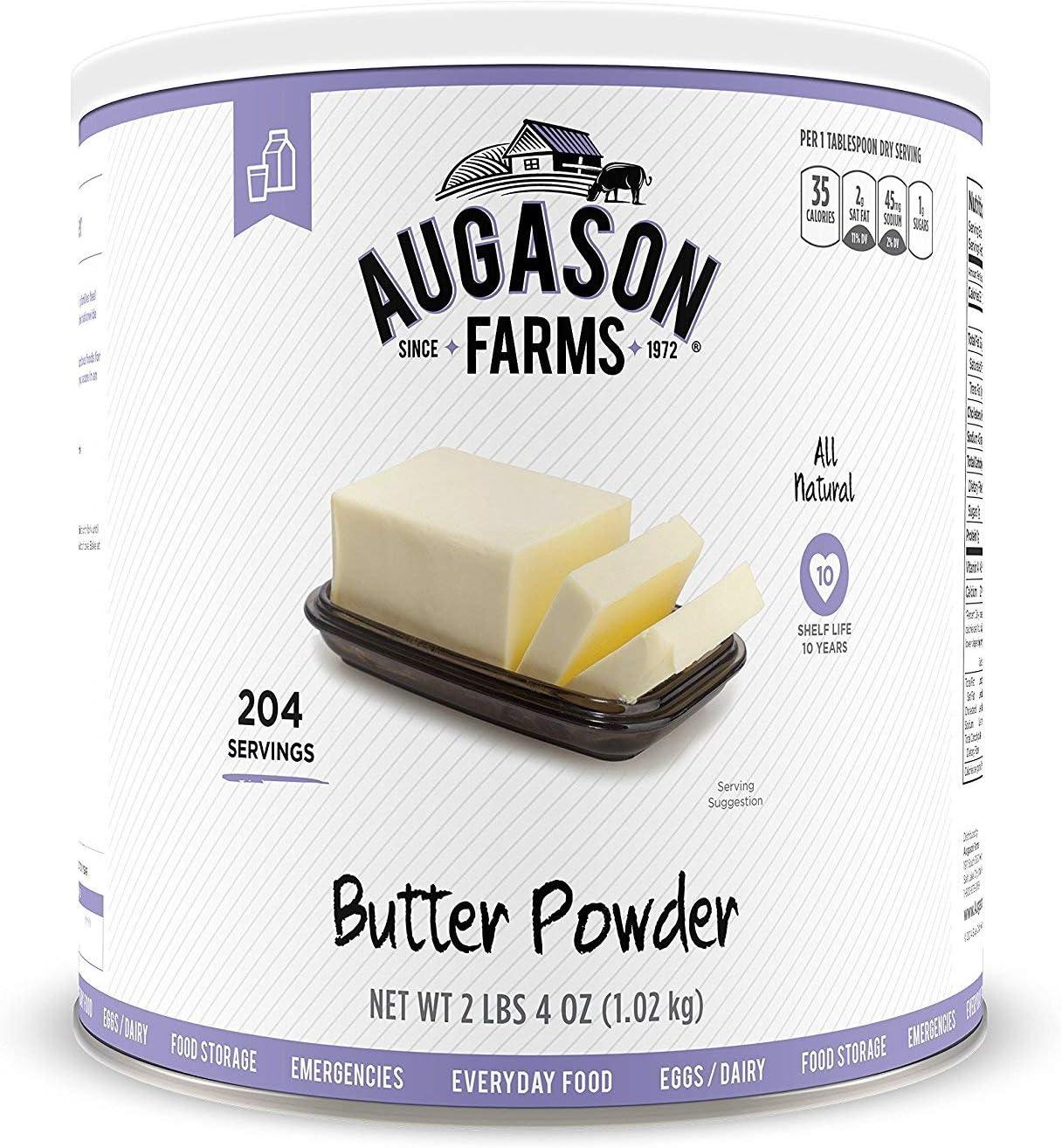 Augason Farms Butter Powder 2 lbs 4 oz No. 10 Can (1 CAN)