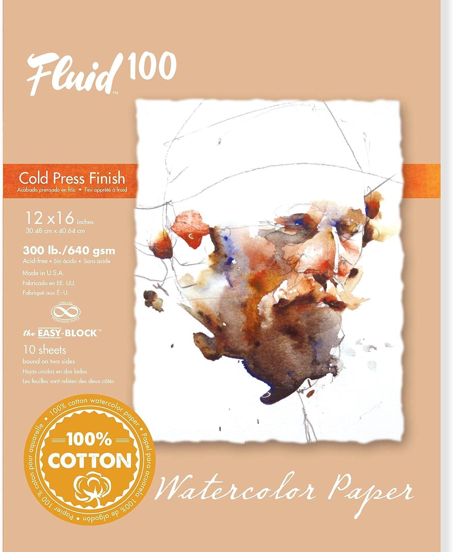 Handbook Paper Fluid 100 Watercolor Cp 300Lb Ez-Block 4X6