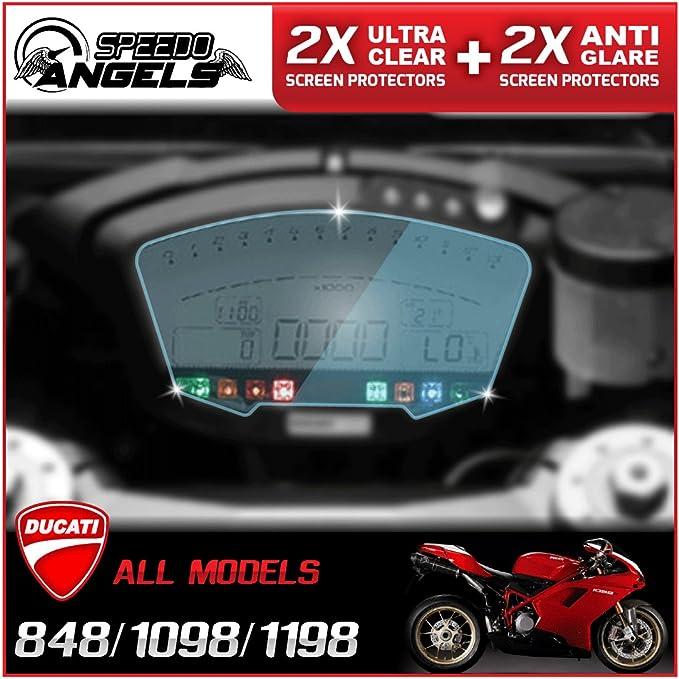 Speedo Angels Ducati 848 1098 1198 All Models Dashboard Protector Bildschirm Des Cluster Instrument 4 Pack 2 X Ultra Clear 2 X Anti Glare Auto