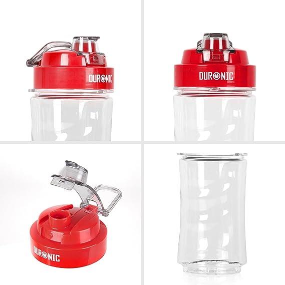 Duronic 400 CR/RD Botella de Agua Deportiva Niños de Recambio para la Batidora de Smoothies BL505 en Plástico Tritan y Sin BPA, Reutilizable, ...