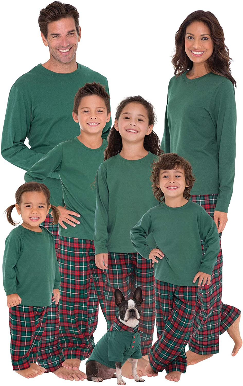 4aeec5ea7f Amazon.com  PajamaGram Family Christmas Pajamas Flannel - Christmas PJs  Matching