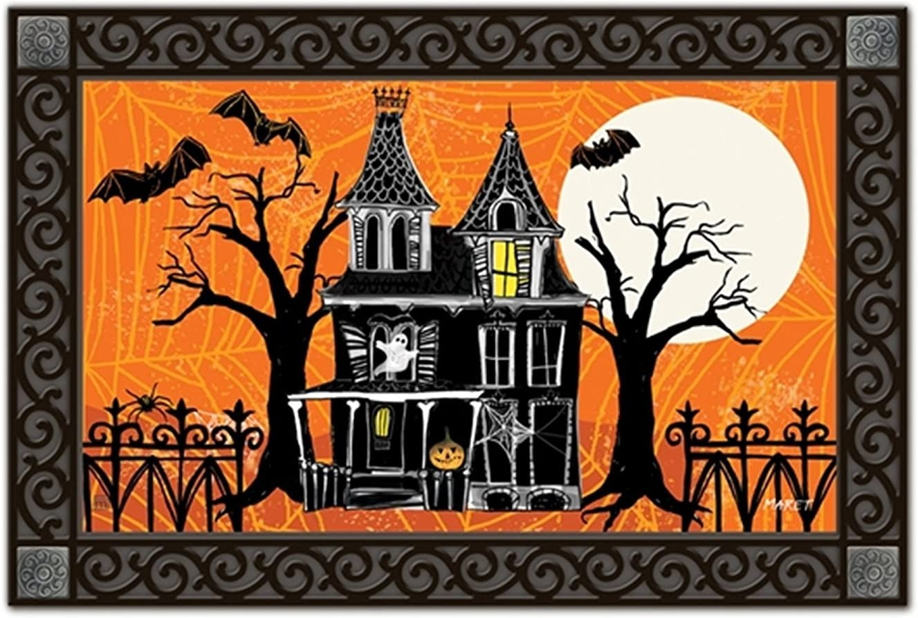 Happy Halloween Decor Pumpkin Carriage Bath Rugs Non-Slip Floor Door Mat New Hot