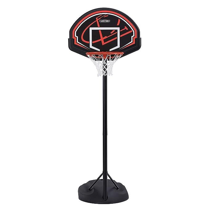 Lifetime 90022 Canasta Portátil de Baloncesto, Basketballanlage Chicago Portable, Negro, Junior