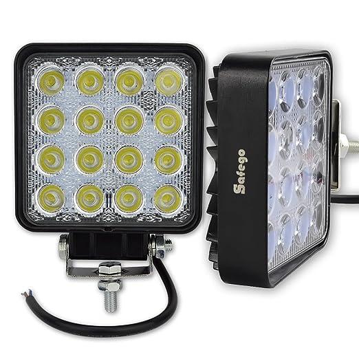 4 opinioni per Safego OFF-ROAD faretto faro da lavoro a LED 48W 12V lampada di lavoro