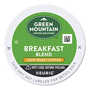 Green Mountain Coffee Roasters Breakfast Blend, Single-Serve Keurig K-Cup Pods, Light Roast Coffee, 24 Count
