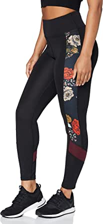 Amazon Brand - AURIQUE Women's Printed Side Panel Sports Leggings