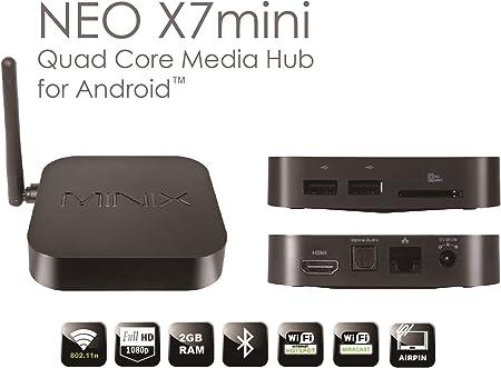 Develop 10 MINIX Neo X7 Mini - Android Quad Core 4.2 TV Mini-PC RK3188 1.8GHz 2GB RAM 8GB ROM Bluetooth HDM: Amazon.es: Electrónica