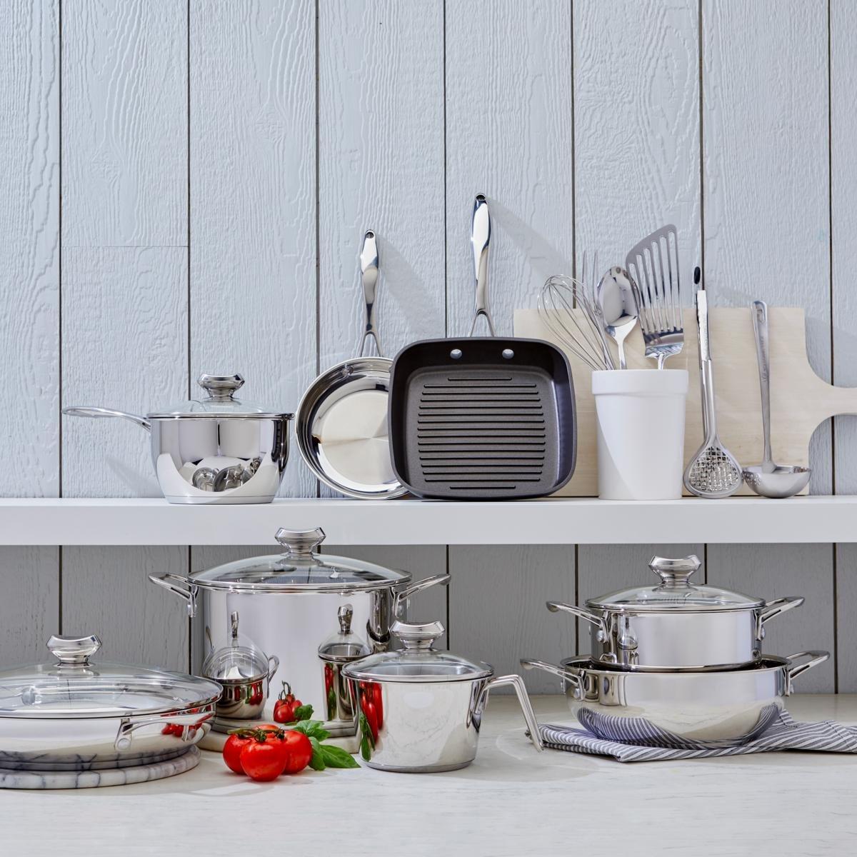 Amazon.com: Wolfgang Puck Cookware Set WP19PC2017 Bistro Elite 19 ...